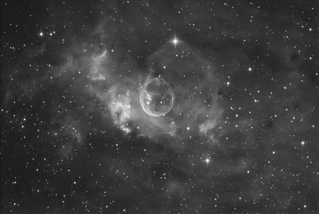 Bubble Nebula in Hydrogen Alpha