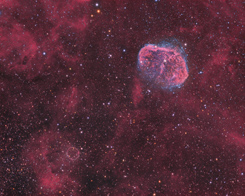 Crescent and Bubble Nebulae