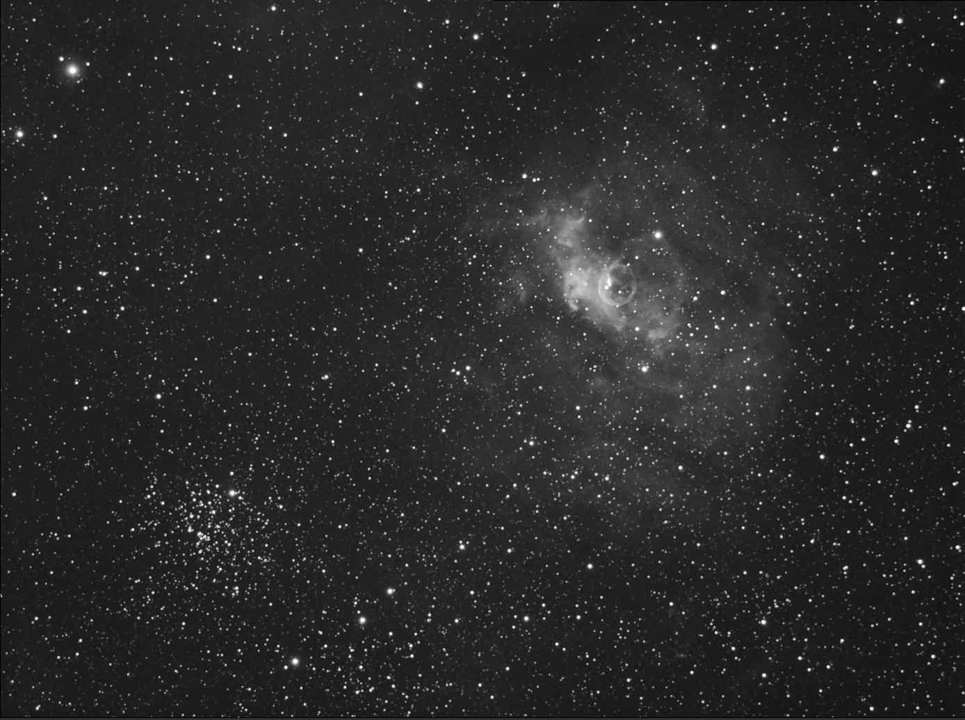 Crescent Nebula in Hydrogen Alpha