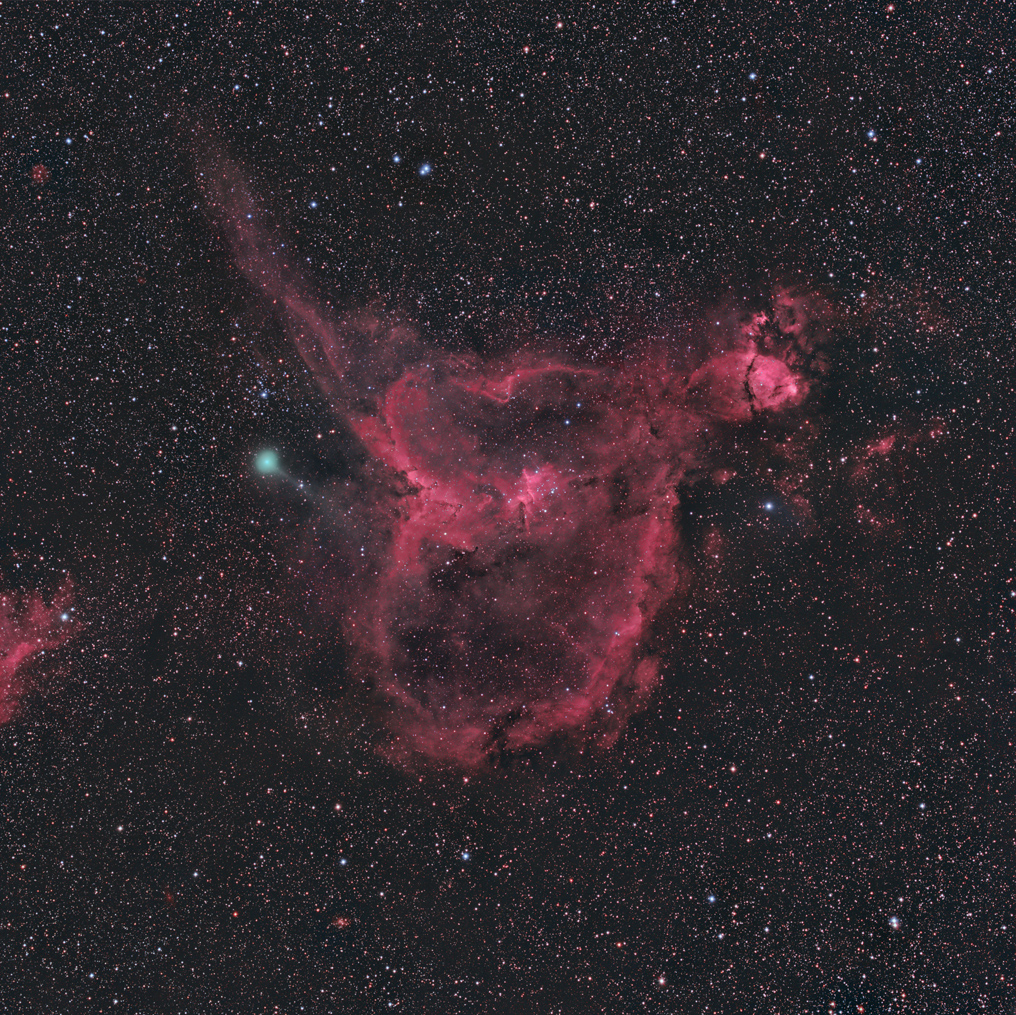 IC1805 and Comet Jacques